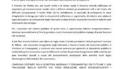 Comunicato Stampa UIL FPL CORONAVIRUS AGGIORNAMENTO