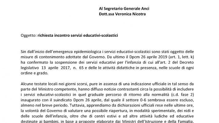 UILFPL-CGILFP-CISLFP_richiesta incontro servizi scolastici